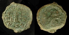 Ancient Coins - > Herod the Great 37 - 4 BC. AE 8 Prutot. H 1169