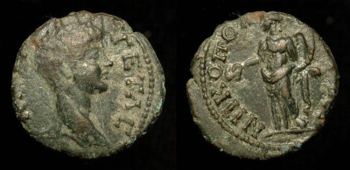 Ancient Coins - Geta 209-211 AD. Moesia Inferior, Nicopolis. AE 17