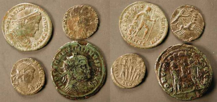 Ancient Coins - 4 Uncleaned Romans #4