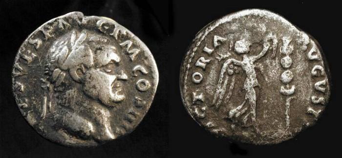 Ancient Coins - Vespasian, 69-79 AD. AR Denarius.  Judaea Capta