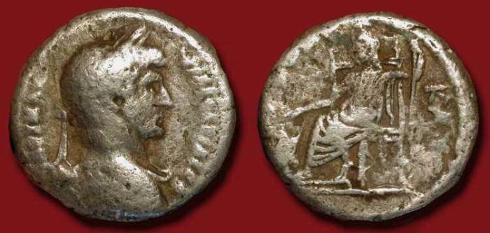 Ancient Coins - x Hadrian 117-138 AD. Alexandria Tetradrachm. Serapis reverse.