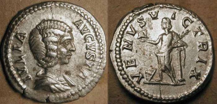 Ancient Coins - Julia Domna . Wife of Septimius Severus . 193 - 211  AD .