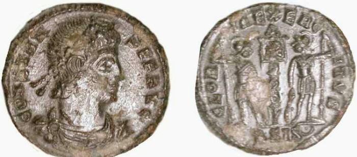 Ancient Coins - Constans  .  337-350  AD .  Siscia