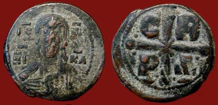 "Ancient Coins -  Romanus IV ""Diogenes"".1068-1071 AD. AE Follis. Scarce Type."