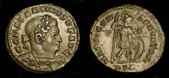 Ancient Coins - Constantine the Great. Marti Conservatori. RIC VII, 113 (Trier)  Very Rare (R4)
