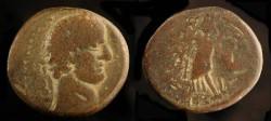 Ancient Coins - > City Coins of Judaea. Askalon. Trajan 98-117 AD.  AE 25.
