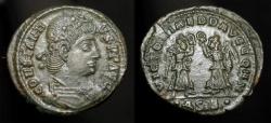 Ancient Coins - CONSTANTIUS II, 337-361 AD. AE FOLLIS. TWO VICTORIES. SISCIA MINT
