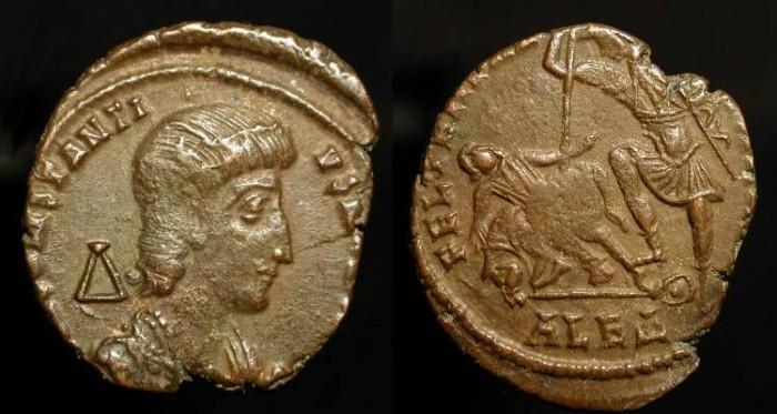 Ancient Coins - Constantius Gallus as Caesar.  351-354 AD. Alexandria Mint
