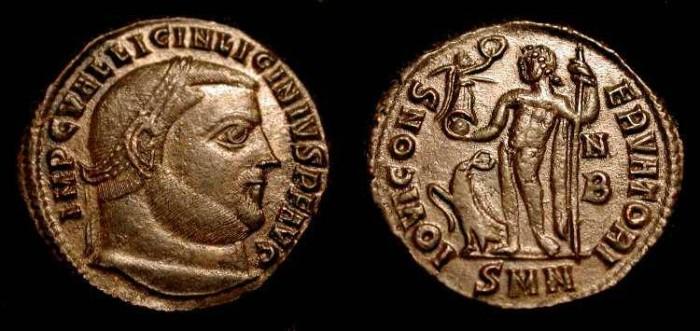 Ancient Coins - Licinius I   308-324 AD. AE Follis. Nikomedia. Rare (R2)