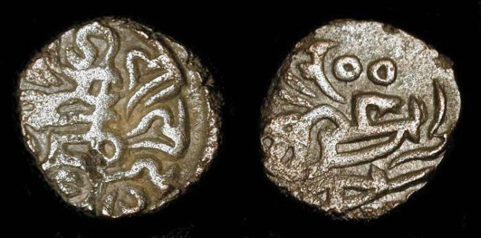 Ancient Coins - Chahada Deva  1172-1191 AD, Medieval India. Bil. Jital. Delhi