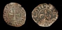 World Coins - Crusades. Henry of Champagne 1192-1197 Jerusalem. AE Pougeoise. CCS 33. RARE