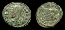 Ancient Coins - Urbs Roma Commemorative. Time of Constantine the Great. Cyzicus Mint