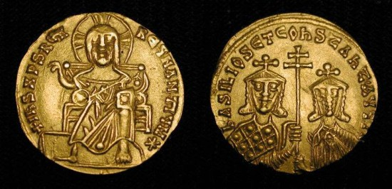 World Coins - x Basil I  867-886 AD.  Gold Solidus