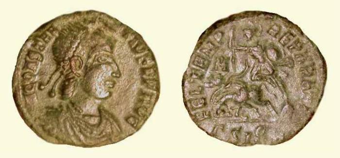 Ancient Coins - Constantius II . 337 - 361 AD . Fallen Horseman .  Siscia