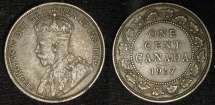 World Coins - Canada 1 Cent 1917  (KM-21).