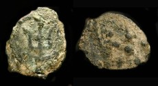 "Ancient Coins - > Judaea. Alexander Jannaeus, 103-76 BC. AE Prutah. ""Widow's Mite"". H 1153 . 5 Rays !"