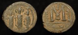 "World Coins - Arab Byzantine. AE Fals. ""al haqq"" Transition Coinage : BAISAN  (Scythopolis). Album 3512 R"