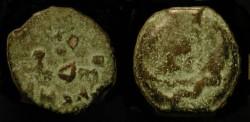 Ancient Coins - Judaea. Herod the Great 37 BC - 4 AD. AE Prutah. Jerusalem. H 1174a