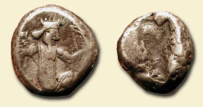 Ancient Coins - Achaemenid Empire . AR Siglos . 450-330 BC