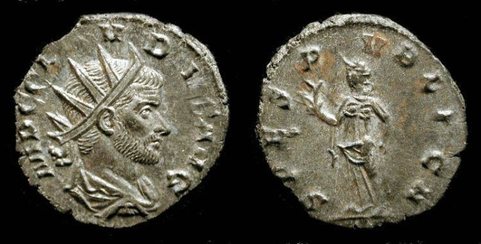 Ancient Coins - xClaudius II Gothicus. 268-270 AD. Antoninianus, Fully Silvered !