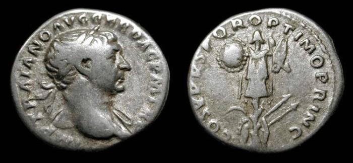 Ancient Coins - Trajan 98-117 AD. AR Denarius. RIC 147