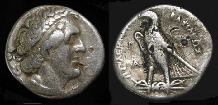 Ancient Coins - Ptolemy I  305-285 BC. AR Tetradrachm