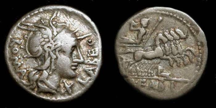 Ancient Coins - Q. Fabius Labeo. 124 BC. Roman Republic. AR Denarius
