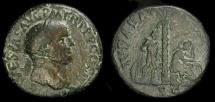 Ancient Coins - Vespasian, 69-79 AD. AE Sestertius. Judaea Capta.  RIC II 424. Scarce