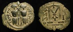 World Coins - Arab Byzantine. AE Follis. Pre-Reform : Scythopolis (Beit She'an). Album 98