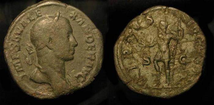 Ancient Coins - Severus Alexander. AE Sestertius. 222-235 AD