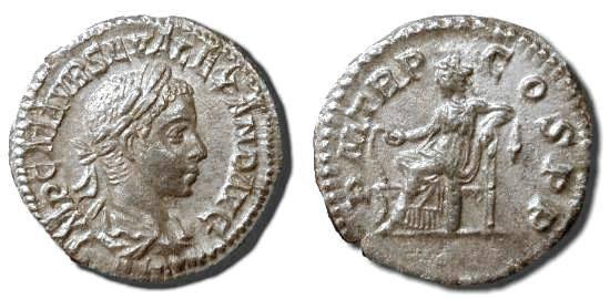 Ancient Coins - x Severus Alexander  .  222-235  AD   .   AR  denarius  .