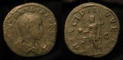 Ancient Coins - Philip II, as Caesar 244-246 AD, AE Sestertius
