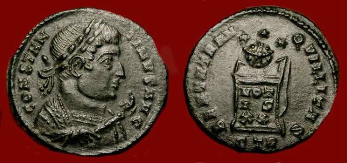 Ancient Coins - Constantine the Great 307-337 AD. Very unusual bust variant.