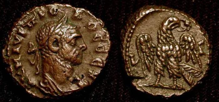 Ancient Coins - Probus, 276-282 AD.  Roman Egypt. Tetradrachme. Eagle. No Reserve