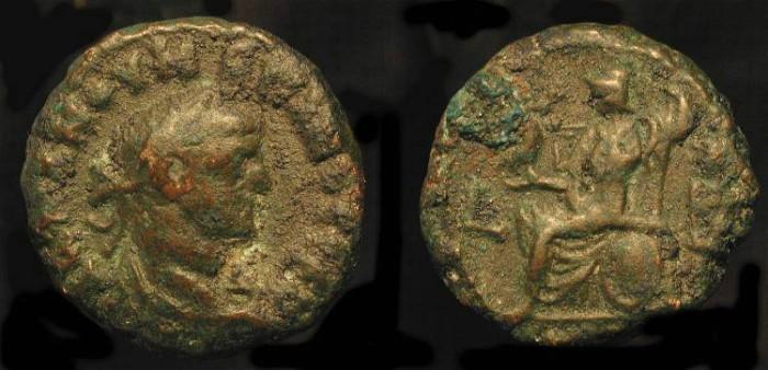 Ancient Coins - Numerian, 283-284 AD. Bil. Tetradrachm. Roman Egypt