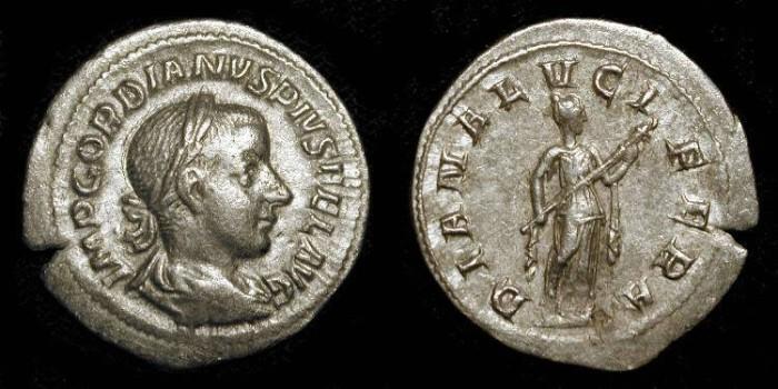 Ancient Coins - xGordian III 238-244 AD. AR Denarius. Tranquillina Wedding Celebration issue