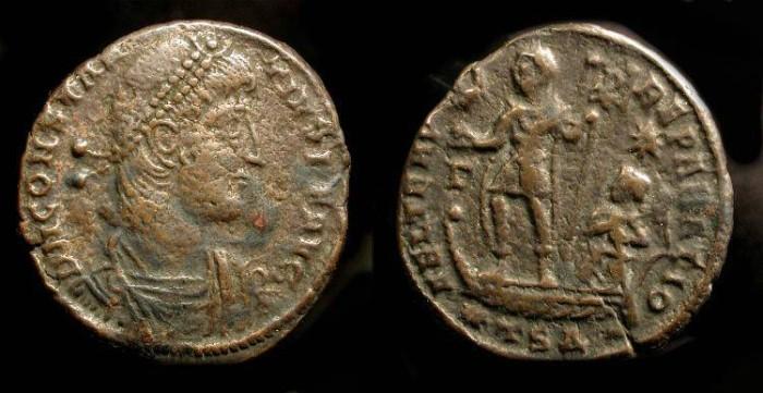 Ancient Coins - Constantius II AE Centenionalis 337-361 AD