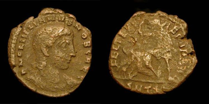 Ancient Coins - Julian II as Caesar  335-360 AD. Thessalonika. FH4.  Scarce Type.