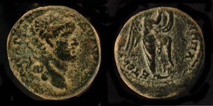 Ancient Coins -  Agrippa II under Domitian. AE 19. Hendin 1290