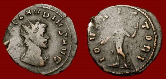 Ancient Coins - Claudius II Gothicus. 268-270 AD.  Billon Antoninianus.
