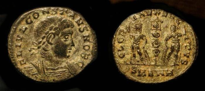 Ancient Coins - Constans, as Caesar 333-337 AD. AE 16.  Antioch