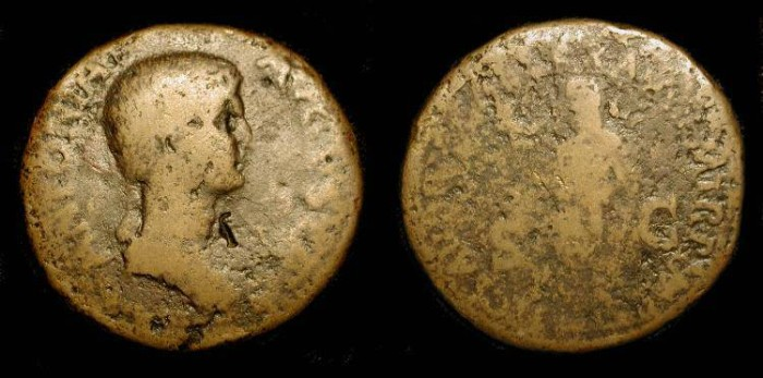 Ancient Coins - x Antonia, died 37 AD, Daughter of Marc Antony. Wife of Nero Drusus. Mother of Claudius and Germanicus.  Very Rare