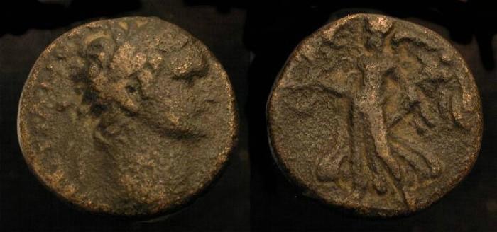 Ancient Coins -  Domitian 81-96 AD. AE 17. Caesarea. Judaea Capta.