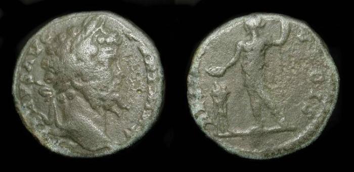 Ancient Coins - Septimius Severus 193-211 AD. Limes Denarius. RESTITVTOR VRBIS
