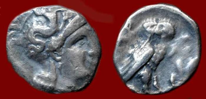 Ancient Coins - Calabria Taras. Circa 302-281 BC. AR Drachm