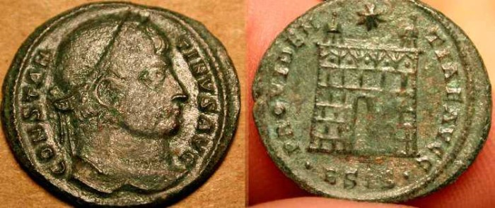 Ancient Coins - z   Fancy Campgate . Constantine the Great  .