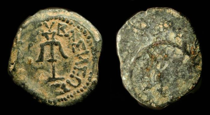 "Ancient Coins -  Judaea. Alexander Jannaeus, 103-76 BC. AE Prutah. ""Widow's Mite"". H 1153"