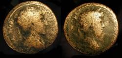 Ancient Coins - City Coins of Judaea. Aelia Capitolina (?) Marcus Aurelius and Lucius Verus. 161-169 AD. AE 24