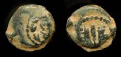 Ancient Coins - > Mattathias Antigonus 40-37 BC. AE 14. H 1164