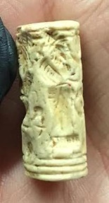 Ancient Coins - Cylinder Seal. Mesopatamia. 2nd Millenium BCE. Very delightful and interesting depiction.